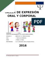 Taller de Expresion Oral y Corporal