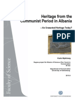 Heritage From the Communist Period in Albania an Unwanted Heritage Today