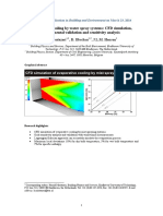 Water Spray Simulation in Ansys