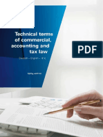 KPMG Technical Terms Commercial Accounting and Tax Law