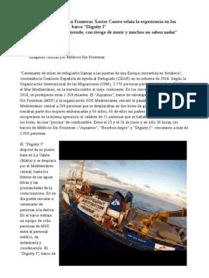 El Pediatra De Médicos Sin Fronteras Xavier Casero Relata La Experiencia En Los Rescates De Refugiados Del Barco Dignity I Haití Naciones Unidas