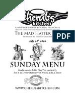24072016 Sunday Menu - Hatter