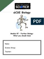 B7 Knowledge Checklist