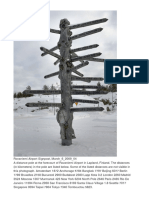 Rovaniemi Airport Signpost