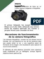 Unidad-II Camara Fotografica y Sus Mecanismos de Funcionamiento