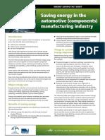 15 Automotive Manufacturing Energy Saving Factsheet