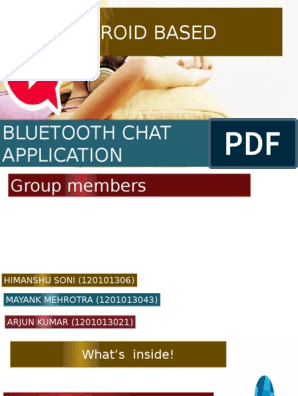 Bluetooth Chat Application   Android (Operating System