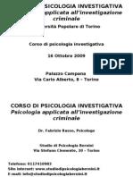 Psicologia Investigativa - I Lezione Serial Killer