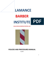 alamance barber institute policies and procedures