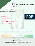 Crux of the Hindu and Pib Vol 12