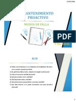 (2) Mantenimiento Proactivo - Modos de Falla