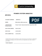 Power System Analysis Lab1-LEYBOLD EQUIPMENT INSPECTION & TRANSIENT MEASUREMENT