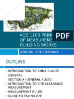 Measurement of Site Clearance