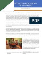 Protocolo Descripción de Mobiliario