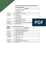 Tentatif Program Perkhemahan Badan Beruniform 2016