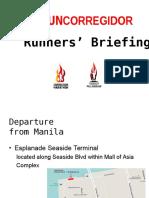 Run Corregidor Runners Briefing Abridged