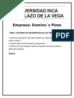 Tema i Sistemas de Información en Las Organizaciones