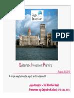 Sip Presentation Jagoinvestor Meet Mumbai by Gajendra 100902111616 Phpapp01