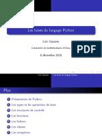 Python Les Bases