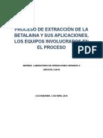 Extraccion de La Betalaina