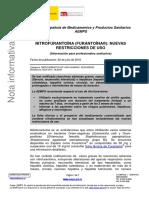 Nitrofurantoína (Furantoína®) - Nuevas restricciones de uso