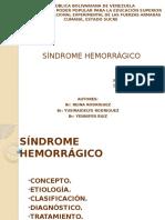 SÍNDROME HEMORRÁGICO SEMINARIO