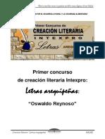 Bases Concurso Creacion Literaria