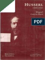 GarcíaBaró, Miguel. (1997). Husserl (1859-1938). Ed. Del Orto, Madrid.