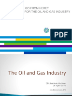 Where Do We Go From Here the Outlook for the Oil and Gas Industry