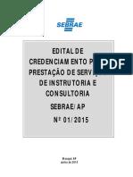 Edital de Credenciamento AP-01.2015