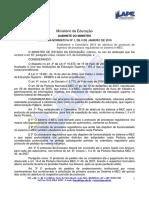 PN 1-2016 - Calendário E-MEC