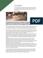 La Educación Rural en La Actualidad