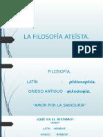 FILOSOFIA ATEISTA