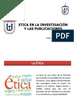 Ëtica en La Investigación y Las Publicaciones