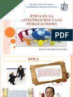 """""""Ética en la investigación y las publicaciones"""""""