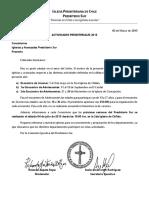 Actividades Presbiteriales 2015