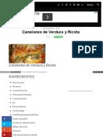 Www Minutoya Com 20-11-2015 Canelones de Verdura y Ricota