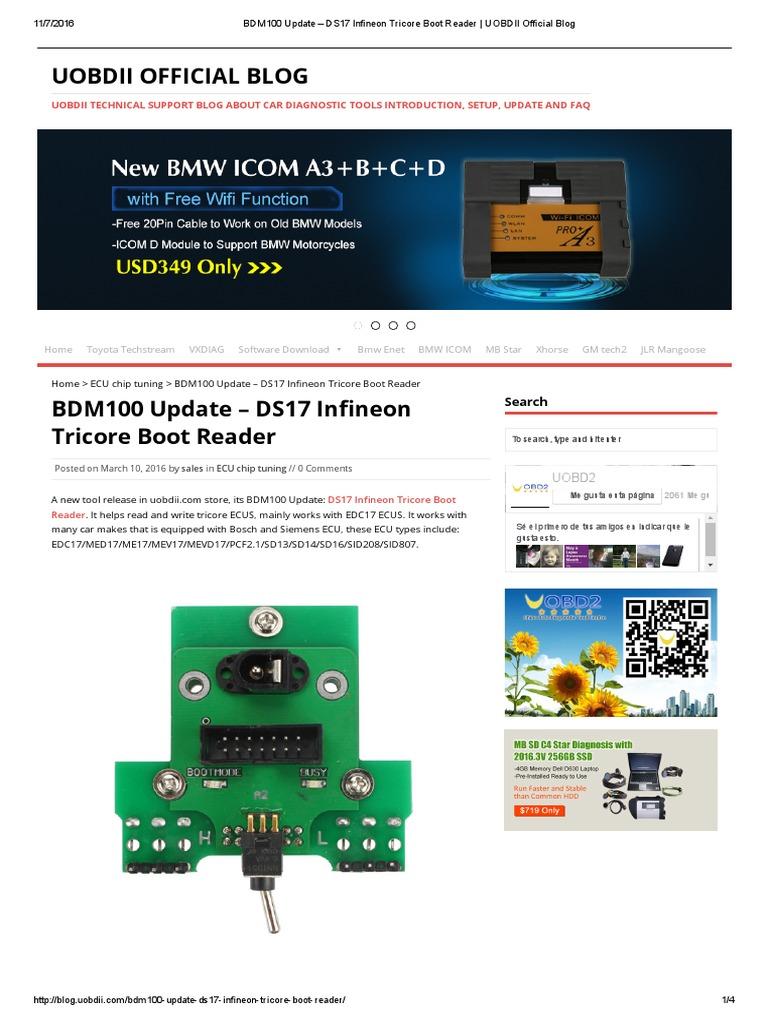 DS17 Infineon Tricore Boot Reader | Ingénierie informatique | Véhicules