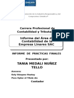 Informe de Prácticas Tania
