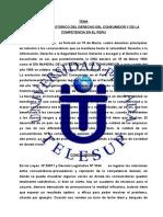 Trabajo de Investigacion Desarrollo Historico Del Derecho Del Consumidor y de La Competencia en El Peru