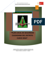 Plan Distrital de Seguridad Ciudadana Cusco