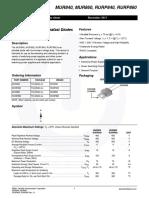 MUR 860 - RURP860 - RURP860, 8 Amp 600 Volt Ultrafast Diode