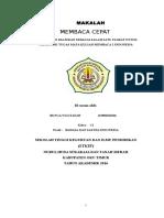 MAKALAH MEMBACA CEPAT  BUNGA.docx