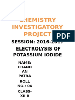 Chemistry Investigatory Project Class 12th