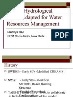 SWAT Hydrological Modelling