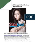 Bandar Judi Asia855 Minimal Betting Roullete Seribu