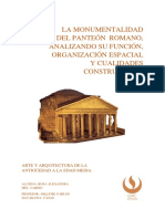 PANTEON  ROMANO  ANÁLISIS ARQUITECTONICO