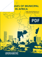 Challenges of Municipal Finance in Africa With Special Reference to Gaborone City, Botswana