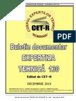 Buletin Documentar Expertiza Tehnica Nr. 130 - Dec. 2015(1)