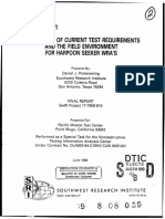 Comparison of Current Test Requirements